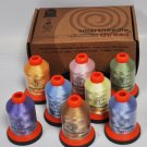 Smartneedle Embroidery Threads Collection 8 Colors With L Bobbins Pastels