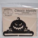 Classic Motifs 6in Jack O Lantern Split Bottom Copper Vein Craft Holder