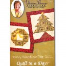 Holiday Wreath and Tree Pattern By Quilt In A Day 1293