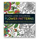 Adams Media Stress Less Coloring Flowers Patterns