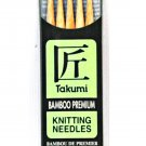 Clover Takumi Bamboo 5 Inch Double Point Knitting Needle Size 7