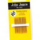 John James Embroidery Needles Size 8