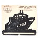 Classic Motifs Cruise Ship 6 Inch Charcoal Split Bottom Craft Holder