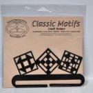 Classic Motifs 6 Inch Split Bottom Quilt Blocks Craft Holder