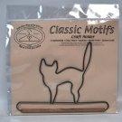 Classic Motifs 6 Inch Black Cat Decorative Craft Holder