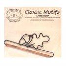 Classic Motifs Oak Leaf & Acorn 6 Inch Fabric Holder With Dowel