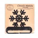 Classic Motifs Snowflake 4 Inch Charcoal Split Bottom Craft Holder with Magnet