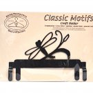 Classic Motifs Dragonfly 6 Inch Charcoal Header