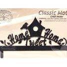 Classic Motifs Home Tweet Home 12 Inch Charcoal Header