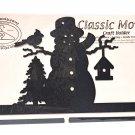 Classic Motifs Frosty Snowman 12 Inch Charcoal Split Bottom Craft Holder