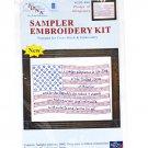 Sampler Embroidery Kit Pledge Of Allegiance