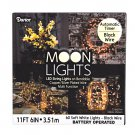 Moon Lights LED String Lights on Bendable Black Plated Wire