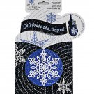 Pop Overs Snowflakes Celebrate the Season Greeting Card and Bottle Wrap