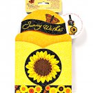 Pop Overs Sunflower Sunny Wishes Gift and Go Bottle Wrap
