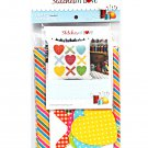 Stitches of Love Hugs and Kisses Pillow Pattern Plus Laser Cut Kit