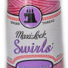 Maxi Lock Swirls Raspberry Vanilla Serger Thread   53-M53
