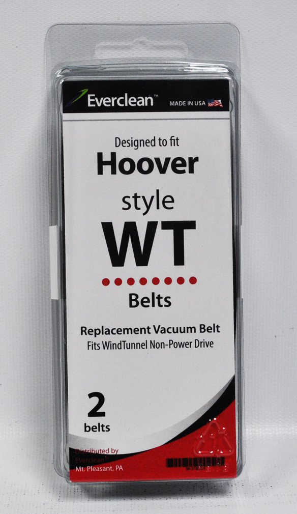 Generic Hoover Wind Tunnel Non-Power Drive Vacuum Belts 2 Pack