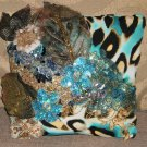 Hand-crafted / Pillow-Blue-Embellished