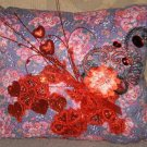 Hand-crafted / Pillow-Purple-Embellished