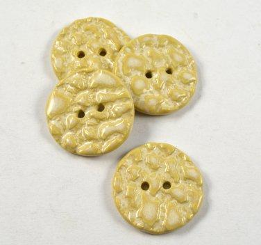 Ceramic Buttons Handmade Textured Butterscotch Glaze