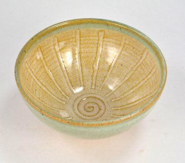 Shaving Bowl Lather Bowl Handmade Wheel Thrown Stoneware Pottery by Seagrapes Studio