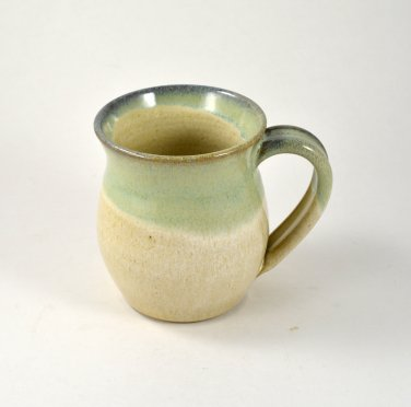Pottery Coffee Mug 12 oz. Ceramic Coffee Cup Handmade Wheel Thrown Pottery by Seagrapes Studio