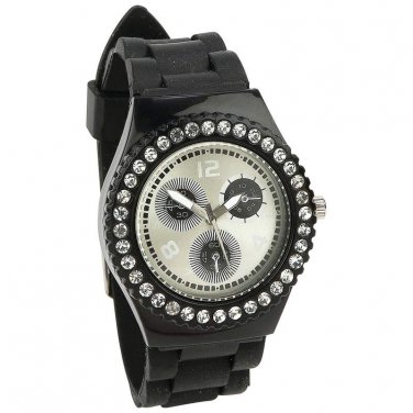 Watches - Navarre� Crystal-Studded, Large Face Watch - JELWCCS - FREE SHIPPING!