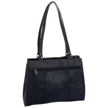 Womens Black Leather Purse / Handbag/ Embassy Lambskin Leather Purse - LUPURS6 - FREE SHIPPING!