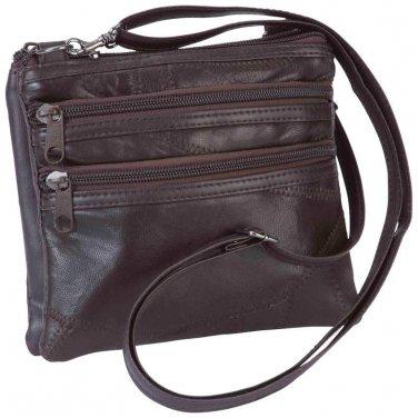 Ladies Purse/ Embassy� Italian Stone� Design Genuine Leather Purse - LUPUSMBR - FREE SHIPPING!