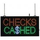 Mitaki-Japan™ CHECKS CASHED Programmed LED Sign - ELMCHK - FREE SHIPPING!