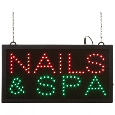 Mitaki-Japan� NAILS & SPA Programmed LED Sign - ELMNSP - FREE SHIPPING!