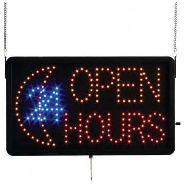 Mitaki-Japan� OPEN 24 HOURS Programmed LED Sign - ELMO24 - FREE SHIPPING!