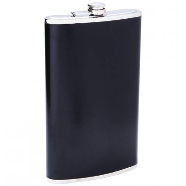 flasks / Maxam® 64oz Jumbo Stainless Steel Flask with Black Wrap - KTFLK64B - FREE SHIPPING!