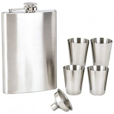 flasks / Maxam® 6pc Stainless Steel Flask Set - KTFLSET6 - FREE SHIPPING!