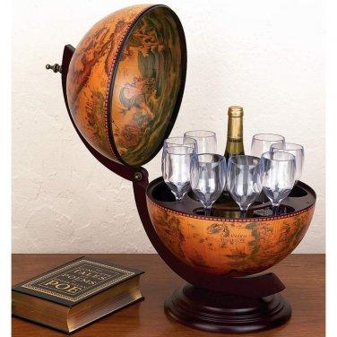 "Kassel� 13"" Diameter Italian Replica Globe Bar - HHGLB3303 - FREE SHIPPING!"
