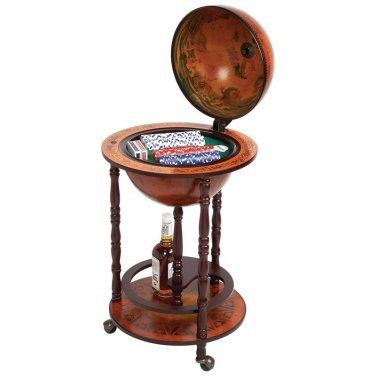 "Kassel� 17-1/2"" Diameter Globe with 208pc Poker Set - HHGLBPOK - FREE SHIPPING!"