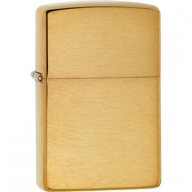 Zippo Lighter Brushed Brass Finish - 204B - FREE SHIPPING!
