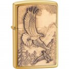 Zippo Lighter Brushed Brass Finish - 20854 - FREE SHIPPING!