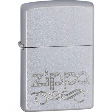 Zippo® Satin Chrome� Finish Lighter - 24335 - FREE SHIPPING!