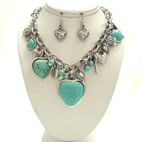 Heart Turquoise Set