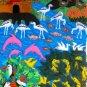 "Peruvian Wall Hanging- Jungle - Cuadro - ""Selva"" 10""x34"""