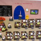 Peruvian Wall Hanging - Math Class - Cuadro - &quot;Clase de Matematica&quot; 17&quot;x19&quot;