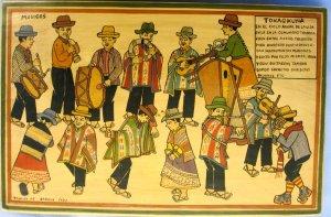 "Panel painting - Musicians- ""Tokaqkuna"" 10x16"""