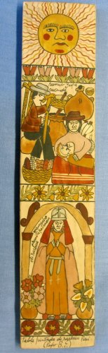 """Panel painting - Family -16x3"""""""