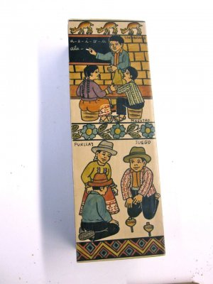 """Box - Teacher and Children Spinning Tops -8x3"""""""
