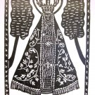 Woodblock print - Our Lady of Aparecida - 13x19""