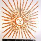 Woodblock print - The Sun of the Northeast- 13x19&quot;