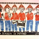 Woodblock print - A Band of Musicians- 13x19&quot;