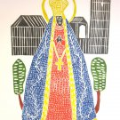 Woodblock print - Our Lady of Aparecida - 26x19&quot;