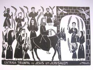 """""""Jesus Triumphal Entry into Jerusalem""""- 26x19"""""""